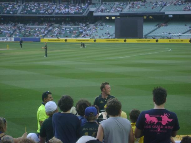 Bollinger amongst his fans